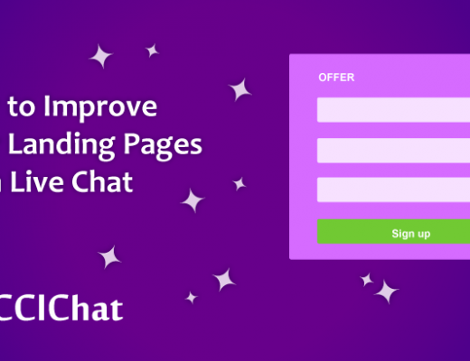 Live chat Improves landing page
